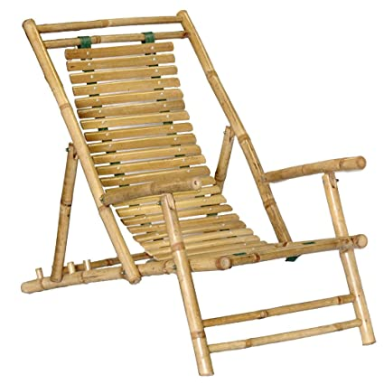 Amazon Com Bamboo Recliner Chair Set Of 2 Patio Recliners