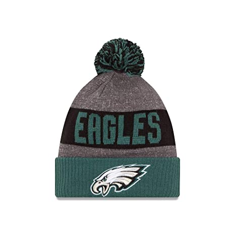 Amazon.com   New Era Knit Philadelphia Eagles Green On Field ... 66780d0f692