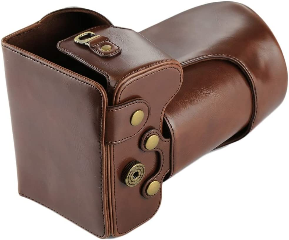 Durable Full Body Camera PU Leather Case Bag for Nikon D7200 // D7100 // D7000 18-200//18-140mm Lens Color : Coffee