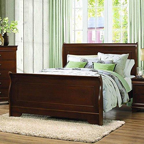 Abbeville Sleigh Bed in Brown Cherry - Full - Full Sleigh Bed