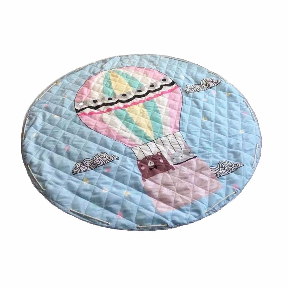 Environmentally friendly baby care Kid Toddler Play Crawl Picnic Blanket Round Fashion Children's Game Pad. (Swan) WDART