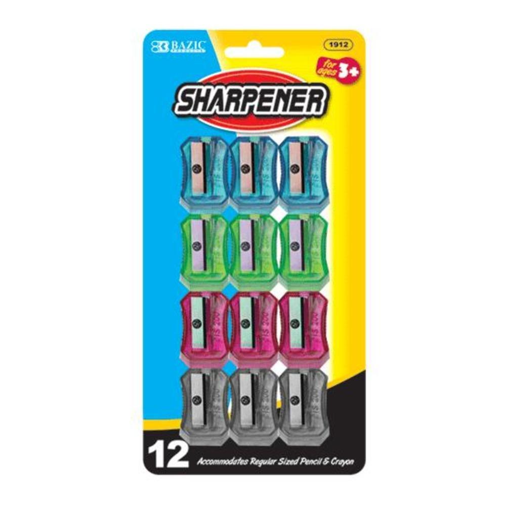 Transparent Square Pencil Sharpener (Set of 12) Quantity: Case of 144