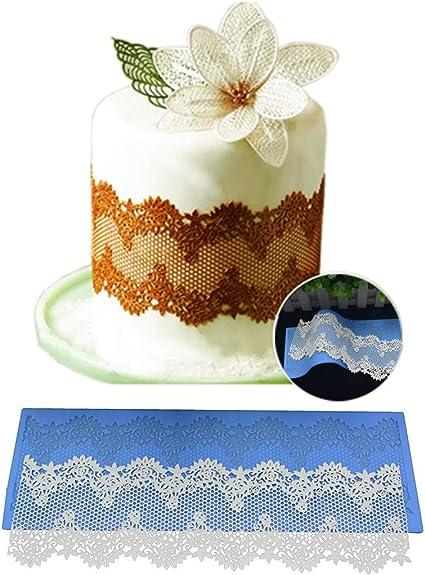 Lace Flower Cake Decor Chocolate Sugarcraft Baking Mould Silicone Fondant Mold