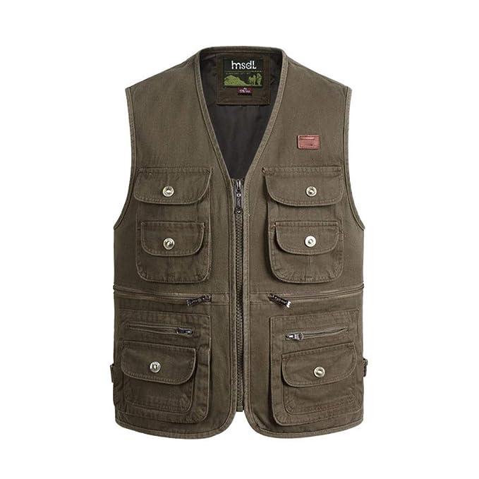 QQCRvest Vest Chaleco de los hombres de algodón XL multi ...