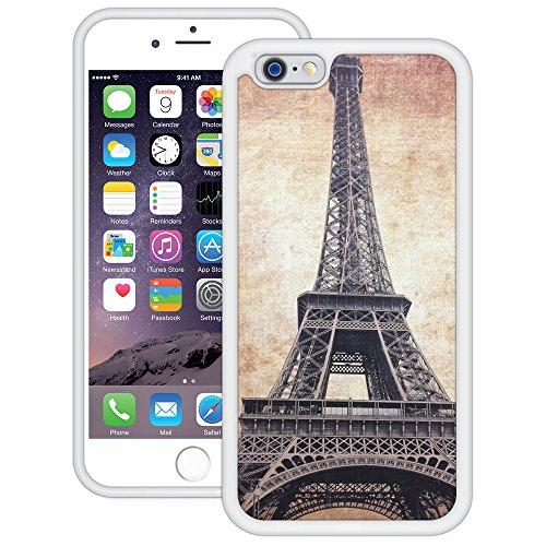 Vintage Eiffelturm | Handgefertigt | iPhone 6 6s (4,7') | Weiß TPU Hülle