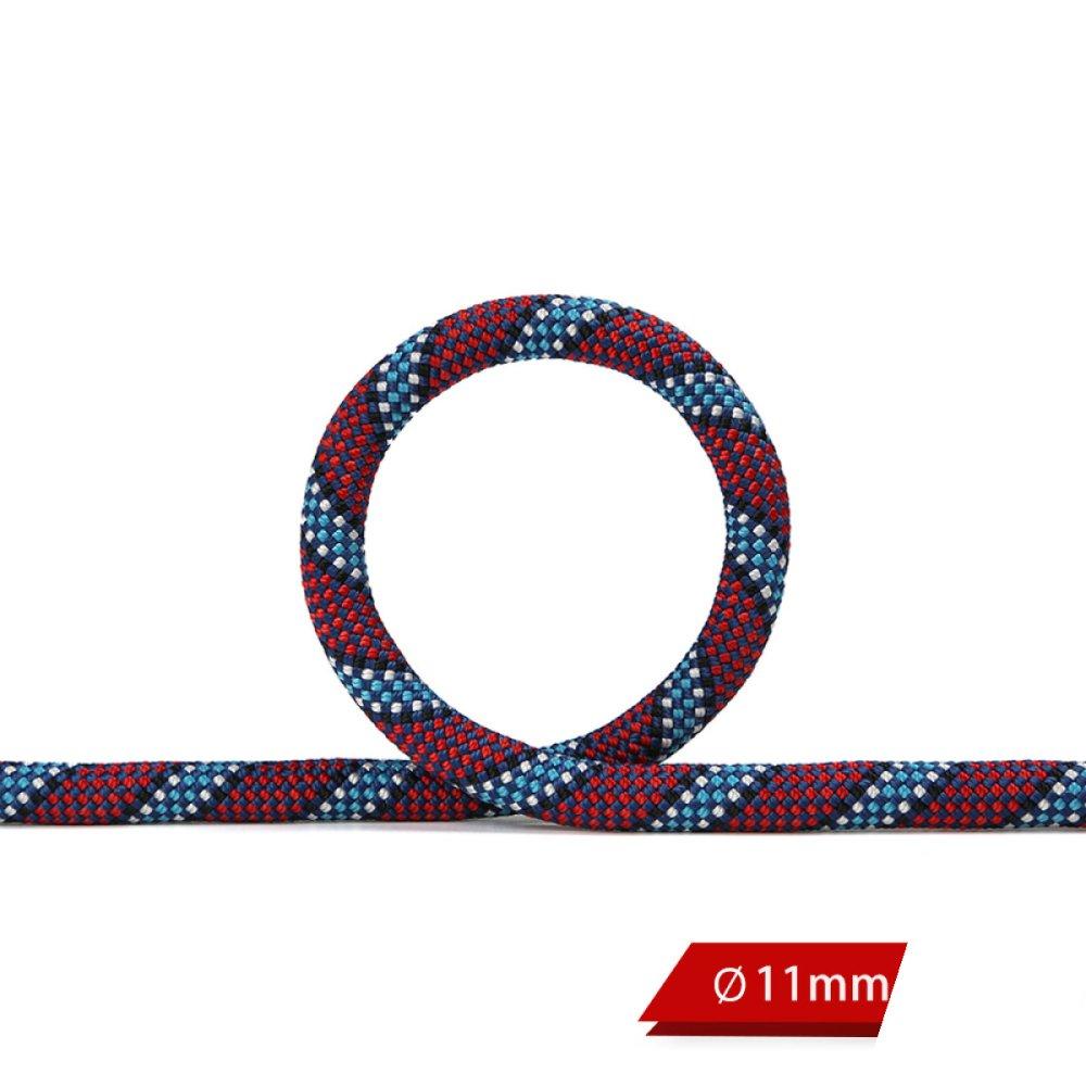 LGZOOT RopeOutdoor Aufstiegsausrüstung Durchmesser 11mm Polyester 10m 15m 20m Seil Mit Abseilseil Profi-Kletterseil,lila-20m