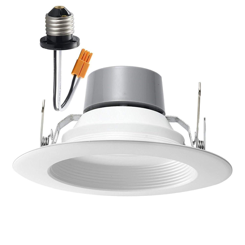 4 Pack 18W (120W Equivalent) 5/6'' LED Recessed Downlight Retrofit Can Light ENERGY STAR 4000K (Cool White) 1170 Lumen CRI90