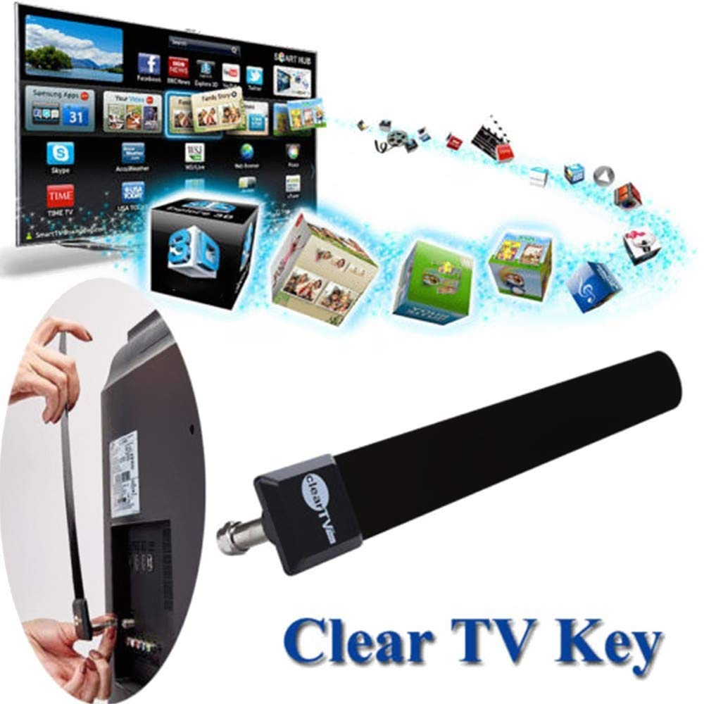 Clear TV Key HDTV FREE TV Digital Indoor Antenna Ditch Cable As Seen on TV wx