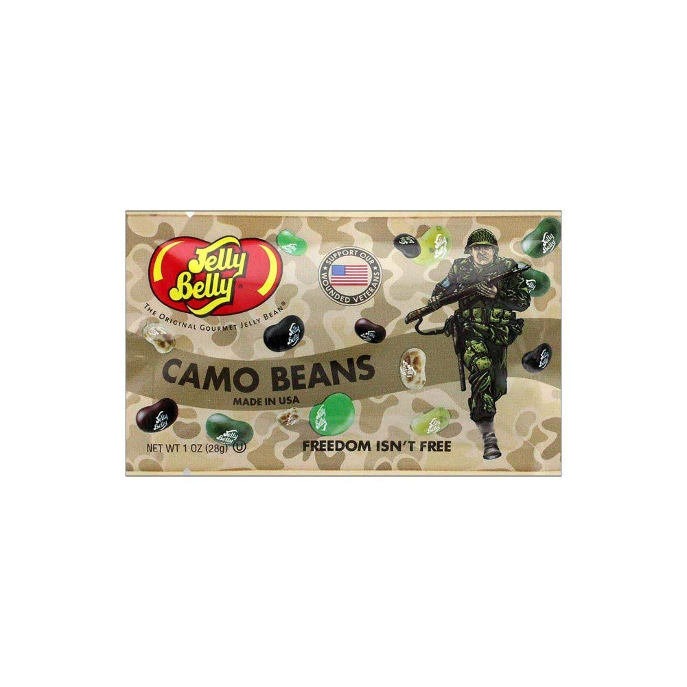 Jelly Belly Camo Jelly Beans | Camouflage Freedom Fighters 1 oz Bags (Case of 30) by Jelly Belly