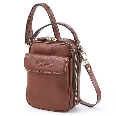 eb8fb9d806 LuggageAOKI 青木鞄 Lugard NEVADA ラガード ネバダ 2way ミニ ショルダーバッグ 日本製 本革 ブラウン