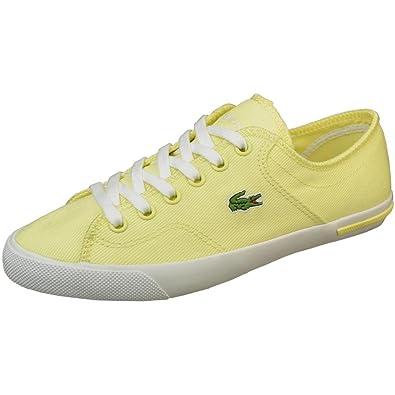 058937ef1 Lacoste Ramer - Light Yellow Canvas Sneaker - Size  6