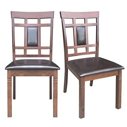 Giantex Set Of 2 Dining Chairs Wood Armless Chair Home Kitchen Room High Back