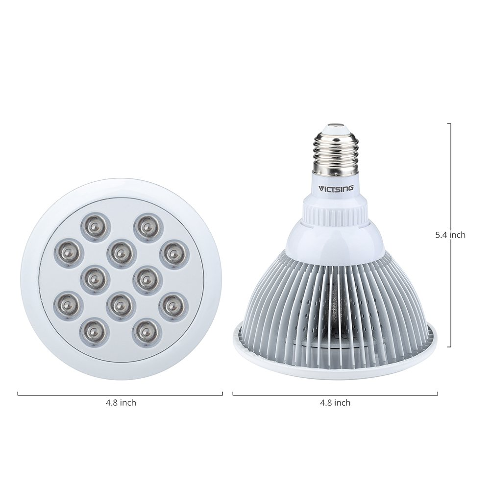 Amazon.com : VicTsing LED Grow Light Bulb, 36W, 12 LEDs, 3 Blue/9 ...
