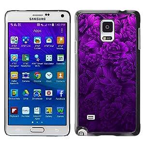 Stuss Case / Funda Carcasa protectora - Purple Floral Spring Lilac Petal Nature - Samsung Galaxy Note 4 SM-N910