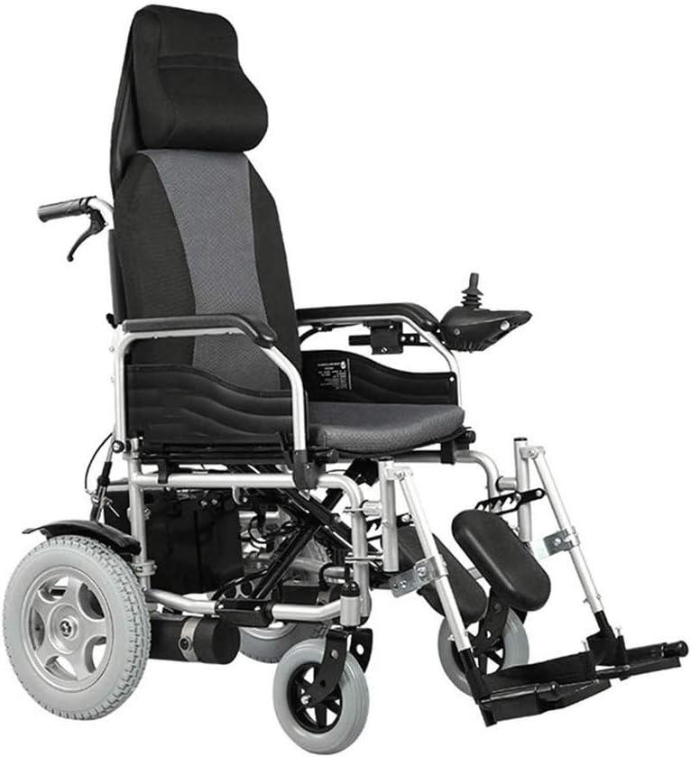 KSW_KKW Silla de Ruedas eléctrica Plegable de Peso Ligero de Ancianos discapacitados automático Inteligente Vespa