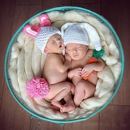 S-TROUBLE Beb/é reci/én Nacido Ni/ños Ni/ñas Traje Lindo de Punto de Ganchillo Accesorios de fotograf/ía de fotograf/ía