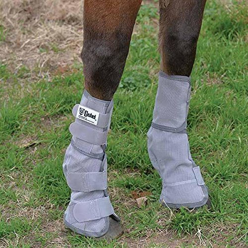 Pastern Wraps (Cashel Horse Fly Leg Guards, Set of 2 - Color: Grey - all Sizes - Small Horse - Arab)