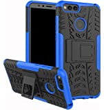 Huawei Mate SE Case, Honor 7X Case,Yiakeng Shock Absorbing Dual Layer Protective Fit Armor Phone Cases Cover Shell for Huawei Honor 7X 5.9 (Blue)