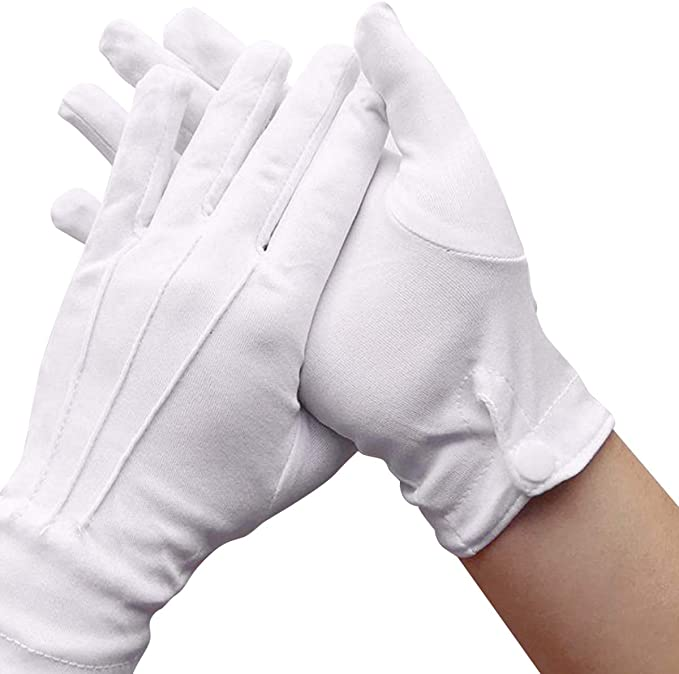 Victorian Men's Clothing, Fashion – 1840 to 1900 AllRight 1 Pair White Formal Gloves Santa Mens Fancy Dress Tuxedo Guard Parade £2.99 AT vintagedancer.com
