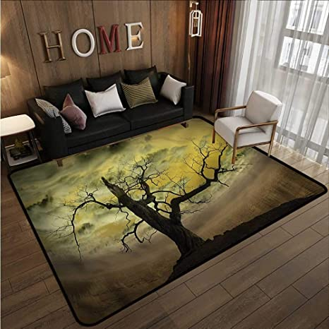Amazon Com Living Room Area Rug Landscape Bare Tree
