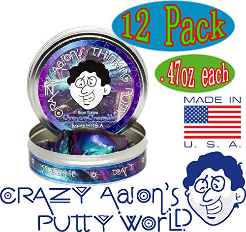Crazy Aaron's Thinking Putty Mini Tin Complete Gift Set with Lizard Lips Hypercolor, 12-Pack by Crazy Aaron's (Image #5)