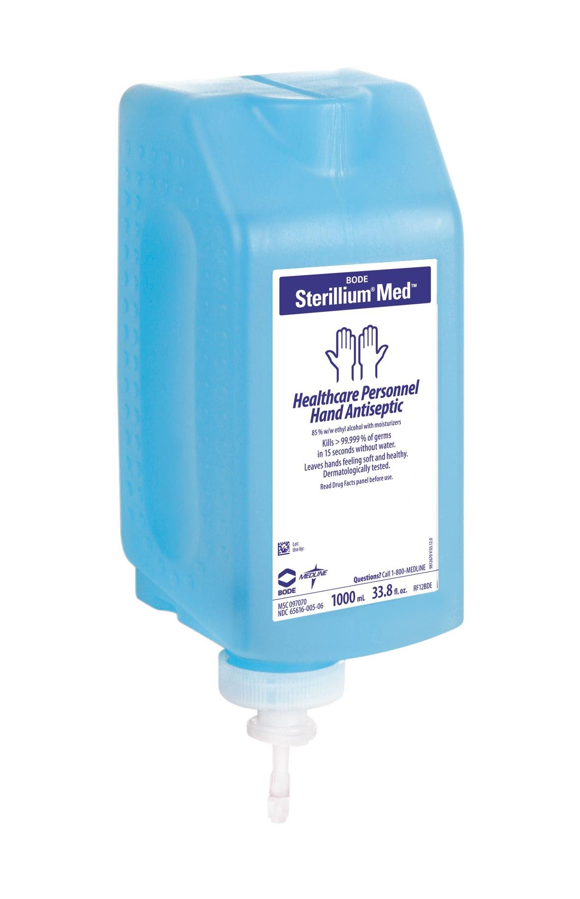Medline MSC097070 Sterillium Med Liquid Hand Sanitizer, Clear (Case of 8)