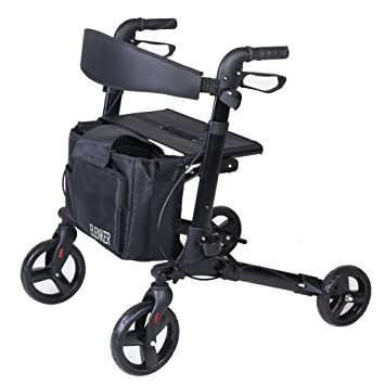 Amazon.com: ELENKER - Andador con cuatro ruedas: Health ...