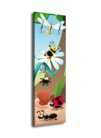 wandmotiv24 Perchero con diseño Divertido Insectos G030. 40 ...