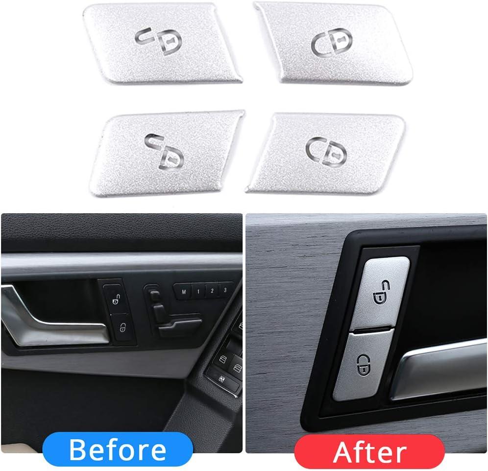 GESECRET Car Door Unlock Button Cover Sequins Decoration Patch Sticker Trim for Mercedes Benz C E Class W204 W212 Auto Interior