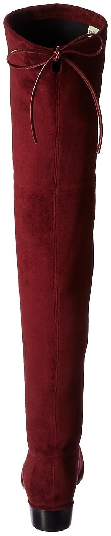 Kaitlyn Pan Women's Microsuede Flat Heel Over The Knee Thigh High Boots B01KMISXJO 6US/ 36EU/ 36CN|Burgundy Red