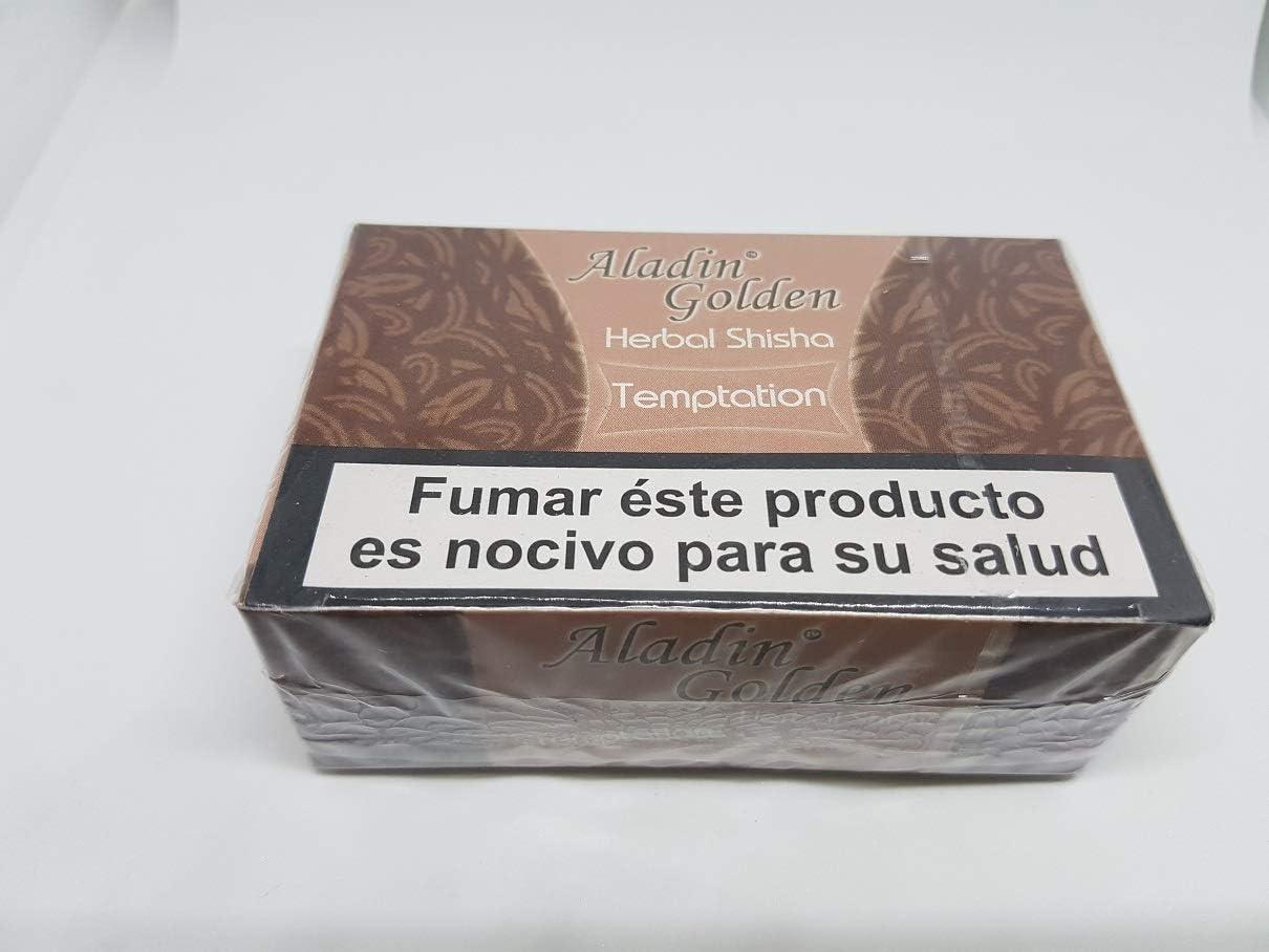 Aladin Golden Shisha (sin nicotina) para Cachimba 10 x 50g Sabor Chocolate ó Variado.