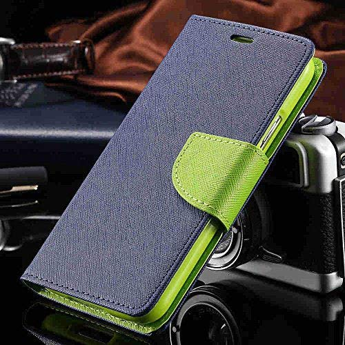 low priced 3f532 379ed Thinkzy Artificial Leather Flip Cover Case for Lava Z60 (Blue, Green)