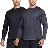 TSLA Men's UPF 50+ Long Sleeve Rash Guard, UV/Sun Protection Quick Dry Swim Shirts
