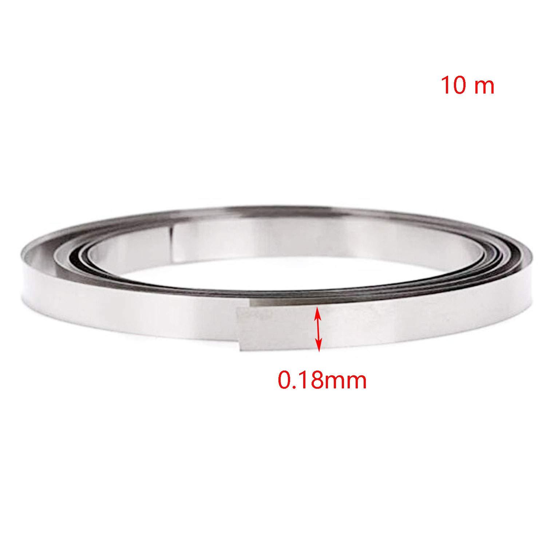 WxT RuiLing 1 Roll 10 Meter Nickel plated steel Strips for 18650 Li Battery Spot Welding 8x0.1MM