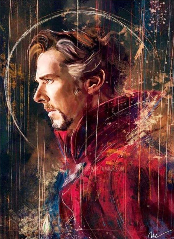 Paint by Numbers Kits DIY Oil Painting Home Decor Wall Value Gift - Doctor Strange 16X20 Inch (No Frame)