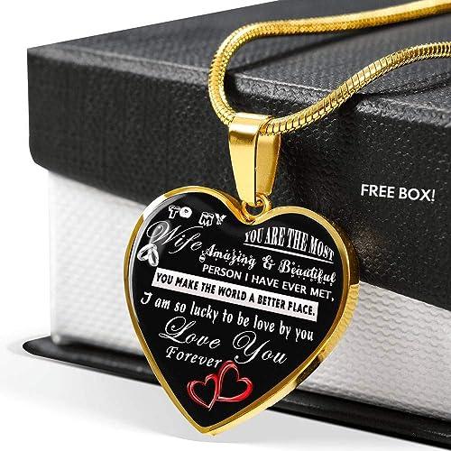 Amazon.com: Collar con cadena para esposa con colgante de ...