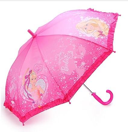 bfe68a6b707cf Barbie Princess for Children Semi- Automatic sunny and rainy Umbrella (pink  2)