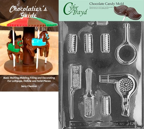 Cybrtrayd J101A Casino for Specialty Box-Piece 1 Chocolate Candy Mold with Exclusive Copyrighted 3D Molding Instructions