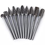 Generic E_14008844 Imported 10 Pieces Tungsten Steel Yg8 Carbide Rotary Burr 6Mm Head Diameter