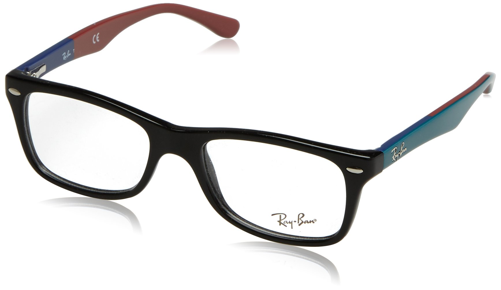 Ray-Ban Women's Rx5228 Square Eyeglasses,Top Black & Texture White,50 mm by Ray-Ban