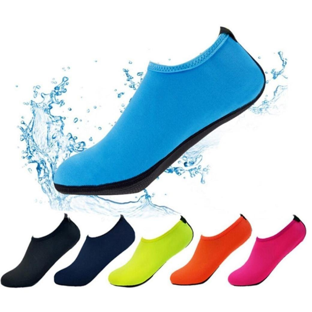 Paymenow Men Women and Kids Quick-Dry Water Shoes Sports Shoes Skin Aqua Socks Lightweight Aqua Socks For Beach Surf Yoga Exercise Swim Pool (Blue, XS)