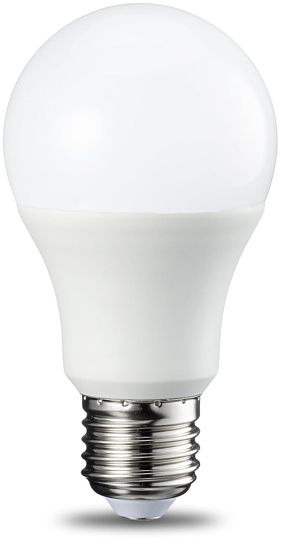 AmazonBasics Bombilla LED Esférica E27, 9W (equivalente a 60W), Blanco Frío - 6 unidades: Amazon.es: Iluminación