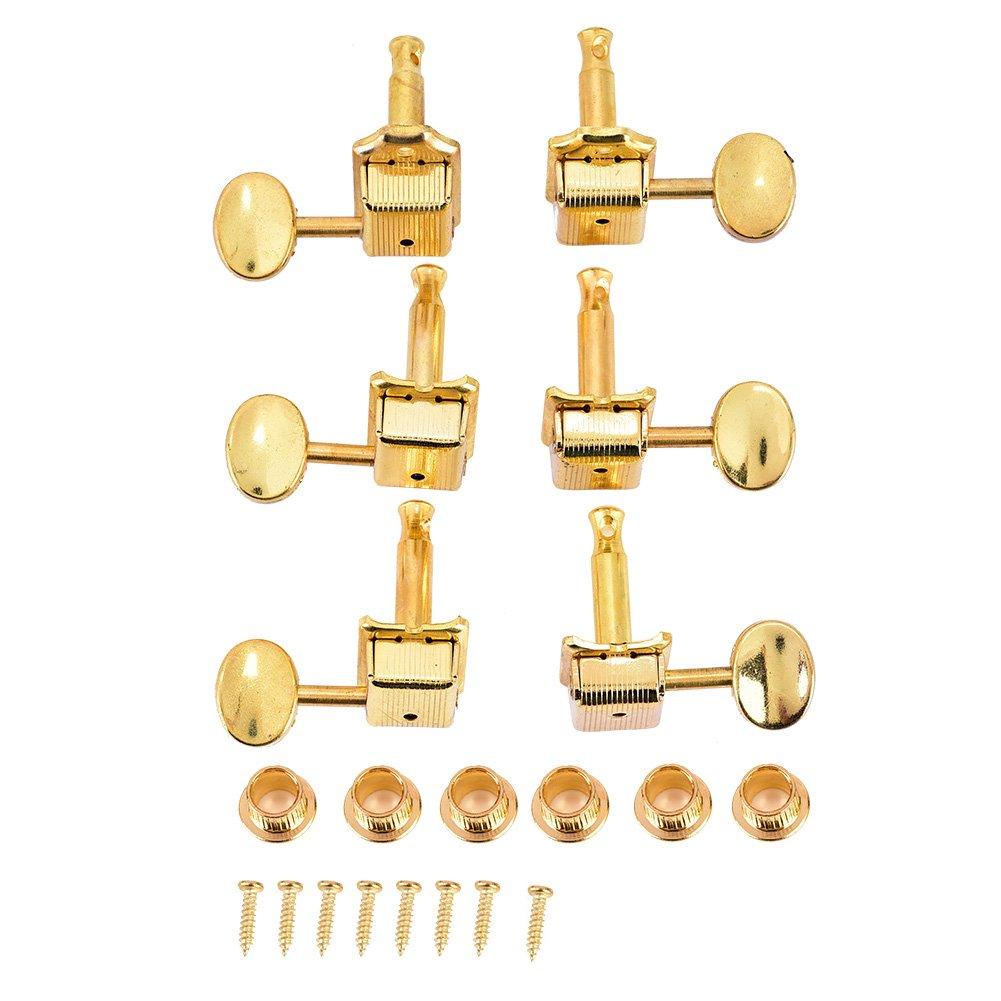 6R chitarra sintonizzatori, oro Semichiuso piroli testa rotonda in lega di zinco teste della macchina