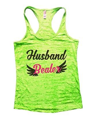 f5a086c1ba09be Amazon.com  Funny Threadz Womens Burnout Husband Beater Tank Top Funny Gym  Shirt  Clothing