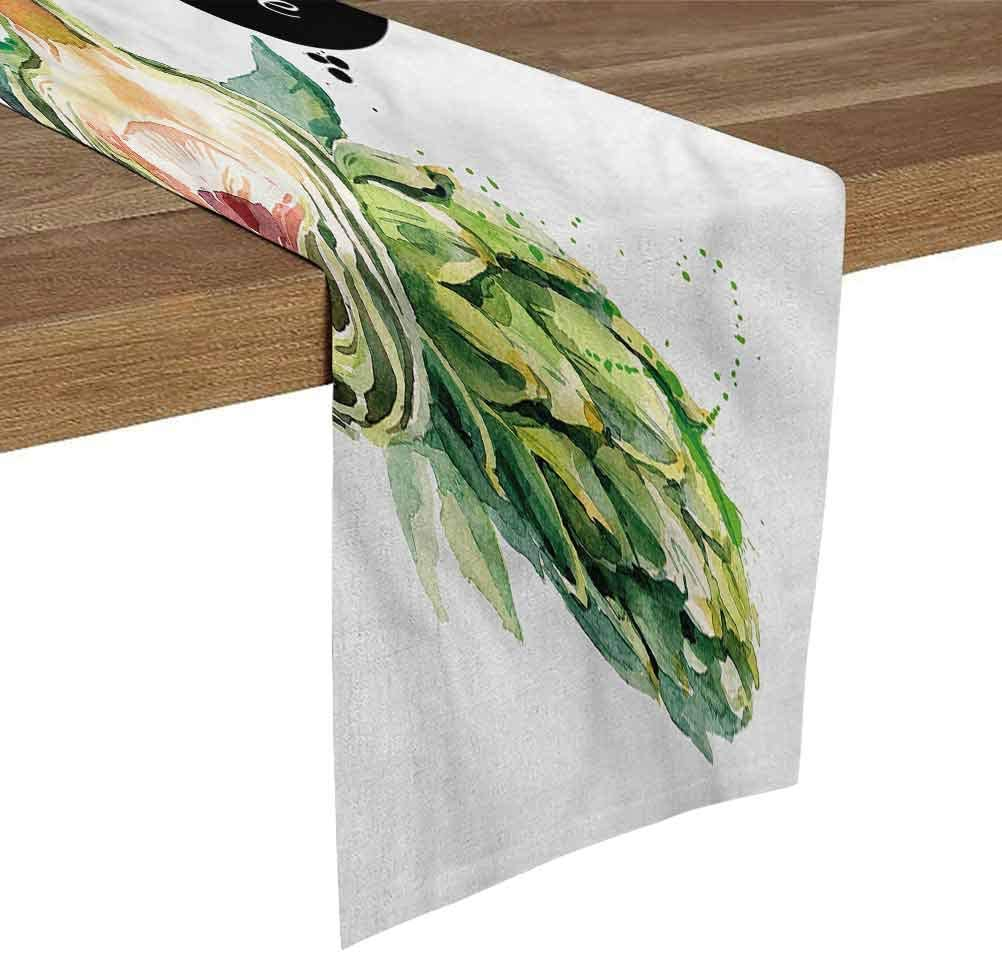 SoSung Burlap Table Runner 12x108 Inch Artichoke,Going Green Food Table Runners fit Rectange and Round Table Decorations for Birthday Parties,Banquets,Graduations,Engagements