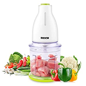 EKICH Food Chopper Electric 500W Mini Meat Grinder with 6 Sharp Blades and 700ML Capacity Vegetable Processor for Onion Nuts and Fruit