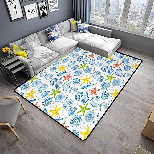 - Sea Shells,Anti-Skid Area Rug 80