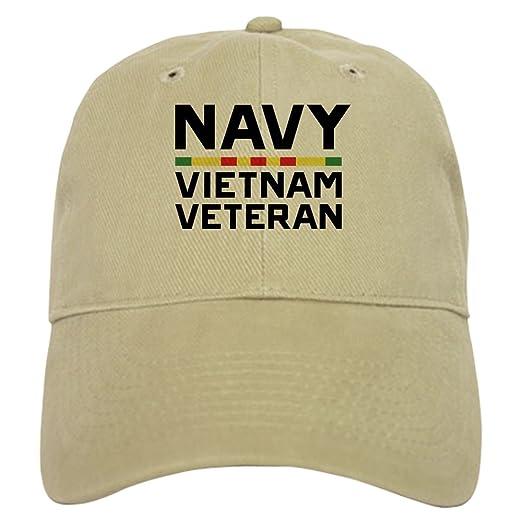 8070a0e7 CafePress U.S. Navy Vietnam Veteran Baseball Cap with Adjustable Closure,  Unique Printed Baseball Hat