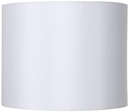 White hardback drum lamp shade 14x14x11 spider