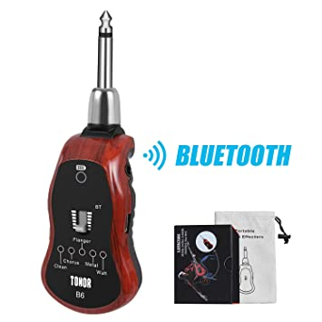 TONOR Amplificadore de Auriculares de Guitarra Eléctrica Recargable Cable Carga USB Altavoz Cinco Efectos Incorporados Guitarra CLEAN/CHOR/FLAG/METAL/WAH: ...